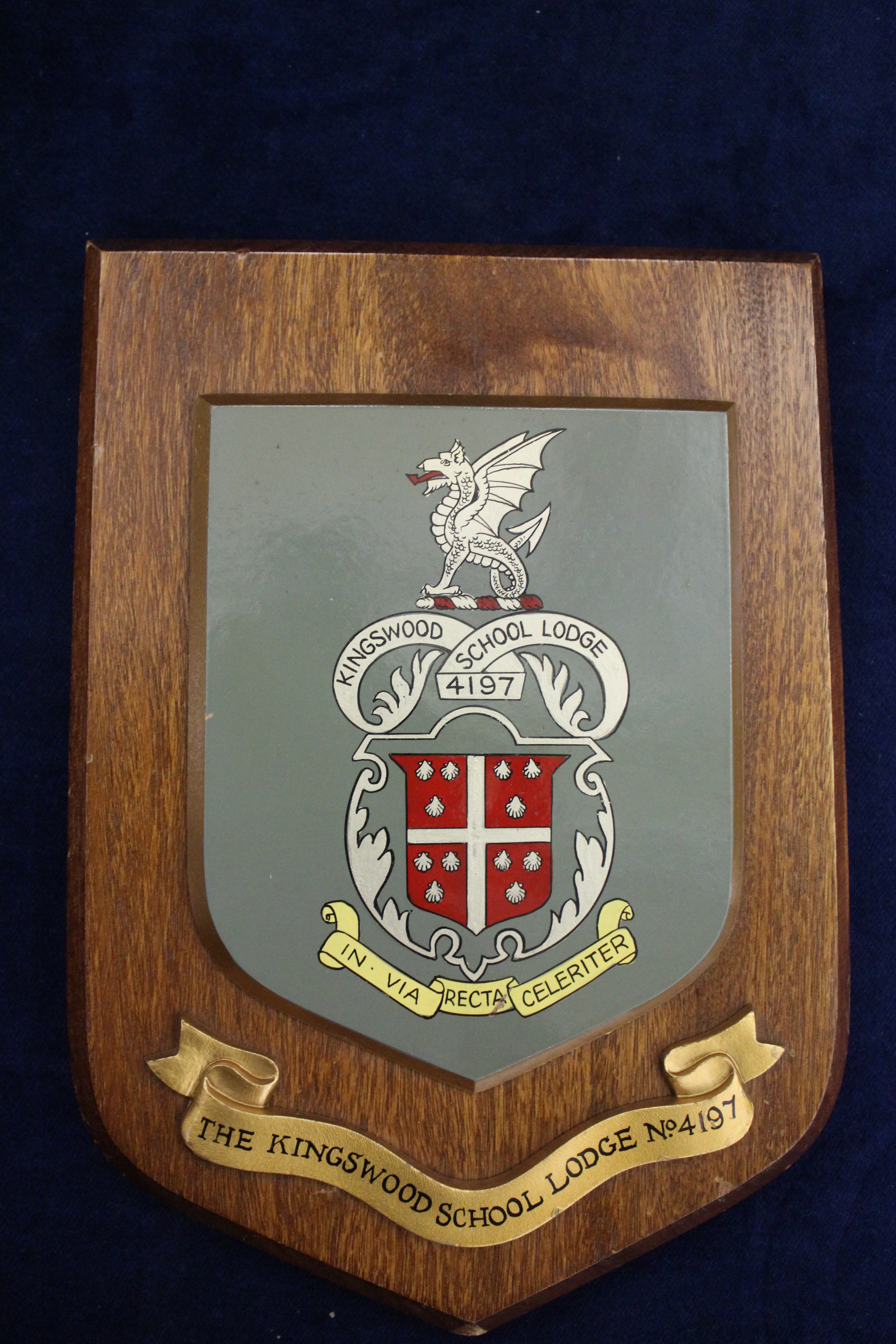 Lodge Crest on Plague